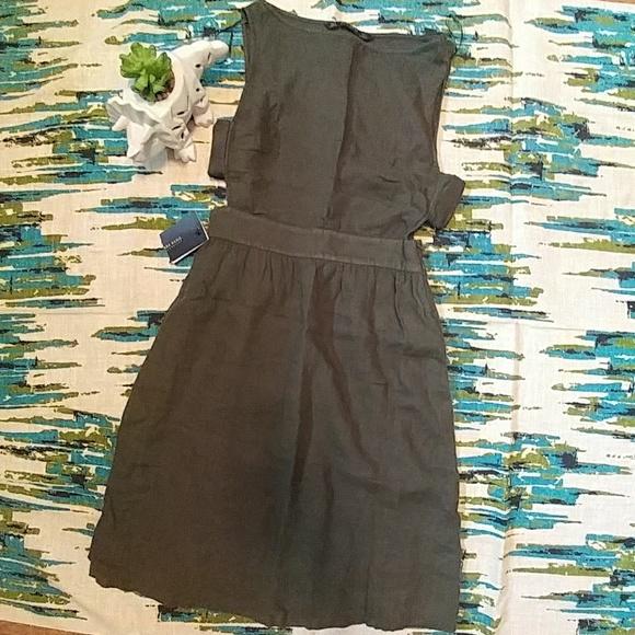 850fbc5ab92 Zara Basic Jumper Dress Olive Green